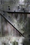 Old oak garden door Stock Images