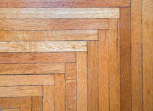 Old Oak Hardwood Floor Background Stock Photos
