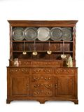 Old oak kitchen dresser antique English Royalty Free Stock Photo
