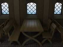 The old oak table. Stock Photo