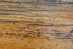 Old oak table surface for background Royalty Free Stock Image