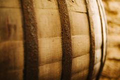 Old oak wine barrel Royalty Free Stock Photo