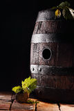 Old oak wine barrel Royalty Free Stock Photography