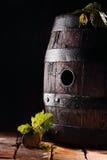 Old oak wine barrel royalty free stock photography