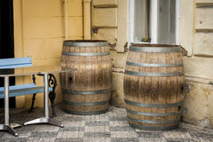 The old oak wine barrel. Stock Images