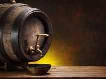 Old oak wine barrel. Stock Images