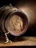 Old oak wine barrel. Stock Image