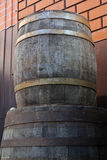 Old oak wine barrels Royalty Free Stock Photo
