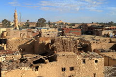 The old oasis town of Siwa in the Sahara of Egypt Stock Image