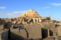 The old oasis town of Siwa in the Sahara of Egypt Stock Photography