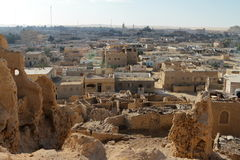 The old oasis town of Siwa in the Sahara of Egypt Stock Photos