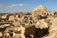 The old oasis town of Siwa in the Sahara of Egypt Royalty Free Stock Photos