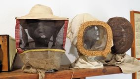 Old objects of beekeeping-Andalusia-Spain-Europe. Old objects of protection for beekeeping-Andalusia -Spain-Europe royalty free stock images