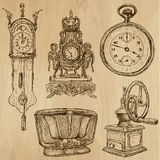 Old objects no.5 - hand drawn collection Royalty Free Stock Photos