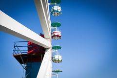 Old Observation ferris wheel royalty free stock photo