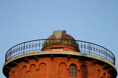 Old Observatory. An old observatory red brick building and copper roof Stock Images