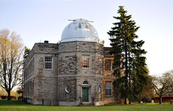 Old observatory with a dome Stock Photos
