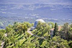 Old observatory dome, Mt Hamilton, San Jose, San Francisco bay, California stock photography