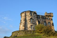 Old observatory house on Calton Hill in Edinburgh Stock Photos