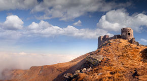 The old observatory on Mount Pip Ivan in Carpathians Royalty Free Stock Photos