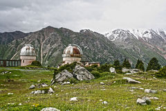 Old Observatory in mountain Central Asia Royalty Free Stock Image