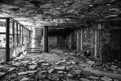 Old obsolete building. An old obsolete abandoned building that used to be a hotel in Kupari, Croatia Stock Image