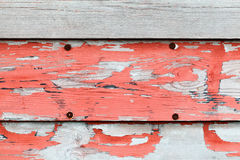 Old obsolete advertisement wooden wall Royalty Free Stock Photos