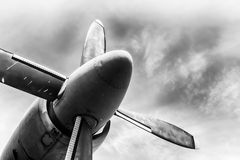 An old obsolete aircraft propeller Royalty Free Stock Photography