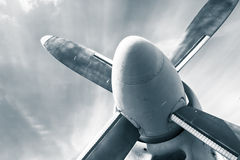 An old obsolete aircraft propeller Stock Image