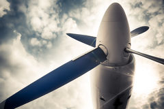 An old obsolete aircraft propeller Royalty Free Stock Photo