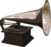 Old obsolete gramophone Stock Images