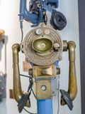 Old obsolete navy telephone by Alfred Graham. MOSCOW, RUSSIA - MARCH 20, 2018: Old obsolete navy telephone by Alfred Graham exhibits in the museum of the Stock Photos