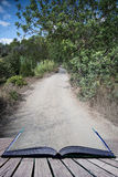 Old off road track through dense foliage on Mediteranean island Royalty Free Stock Photography