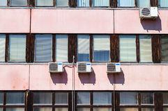 Old office building with air conditioners Royalty Free Stock Photos