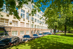Old Office building. MOSCOW, RUSSIA - August 4, 2015 - Office building complex Stock Photography