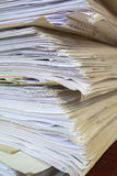 Old office papers Royalty Free Stock Photography