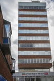 Old office tower. Office space to rent in 60's style British office tower block Stock Images