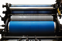 OLD OFFSET PRINTING MACHINE royalty free stock photography