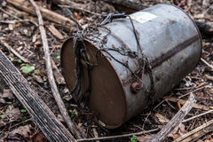 Old oil barrel Royalty Free Stock Photos