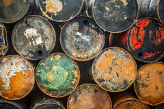 Old Oil Barrels Royalty Free Stock Photo