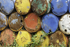 Old oil barrels Royalty Free Stock Images