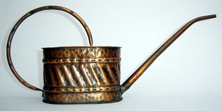 Old oil can, made of copper Royalty Free Stock Photography