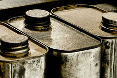 Old Oil Cans Royalty Free Stock Photography