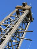 Old Oil Derrick. Dingman Discovery Well (1913). Heritage Park, Calgary, Alberta, Canada Stock Image