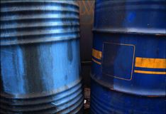 Old oil drum Stock Photo