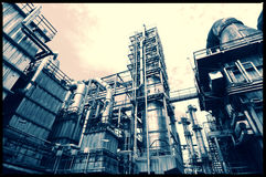 Old oil and gas refinery Royalty Free Stock Photos