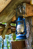 Old Oil Lamp with Cobwebs Royalty Free Stock Image