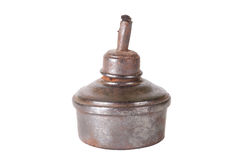 Old oil lamp isolated on white background Royalty Free Stock Photography