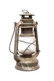 Old oil lamp. On white Stock Photos
