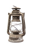 Old oil lamp. On white Royalty Free Stock Photo